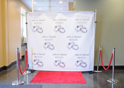 1st Floor, Personalized step & repeat